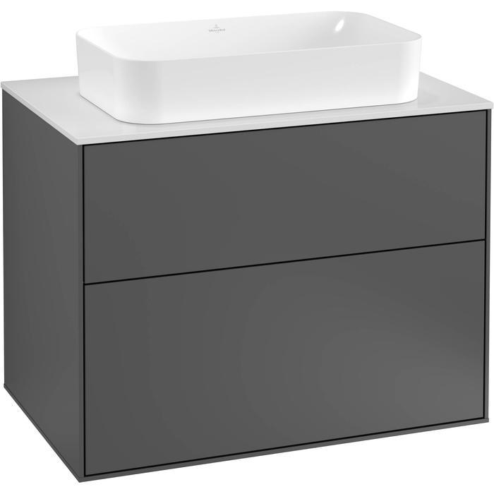 Villeroy & Boch Finion Wastafelonderkast 80x50,1x60,3 cm Anthracite Matt