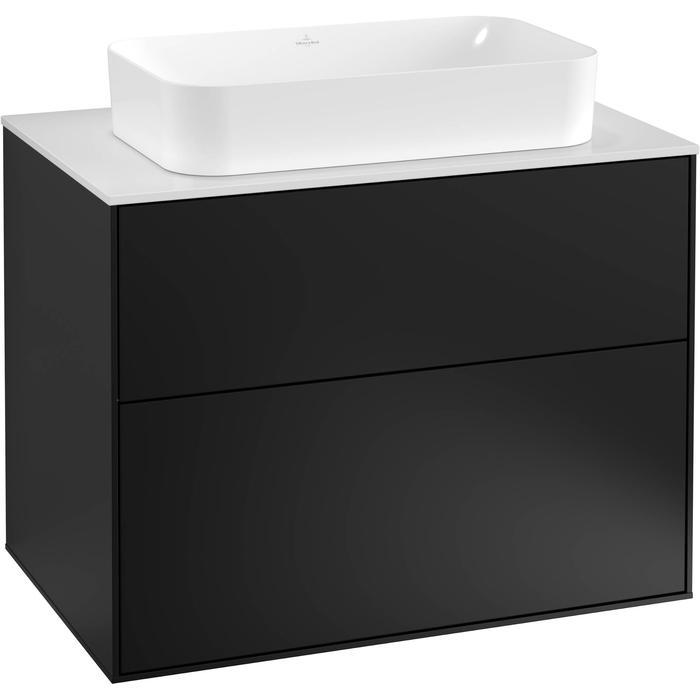 Villeroy & Boch Finion Wastafelonderkast 80x50,1x60,3 cm Black Matt Lacquer