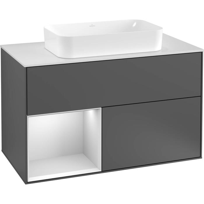 Villeroy & Boch Finion Wastafelonderkast 100x50,1x60,3 cm Anthracite Matt