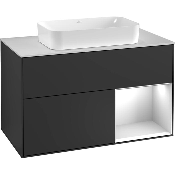 Villeroy & Boch Finion Wastafelonderkast 100x50,1x60,3 cm Walnut Veneer
