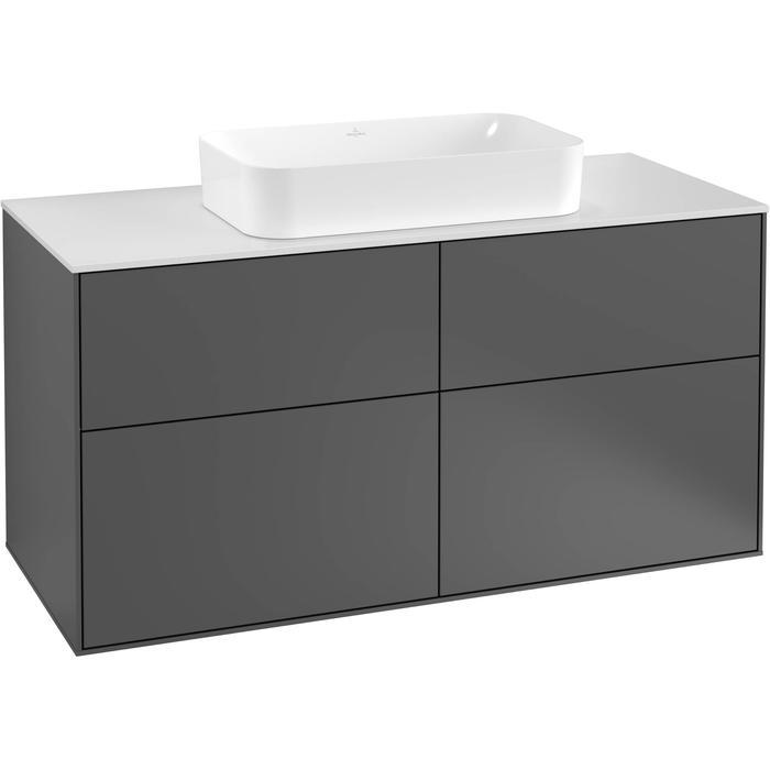 Villeroy & Boch Finion Wastafelonderkast 120x50,1x60,3 cm Anthracite Matt