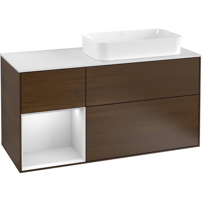 Villeroy & Boch Finion Wastafelonderkast 120x50,1x60,3 cm Walnut Veneer