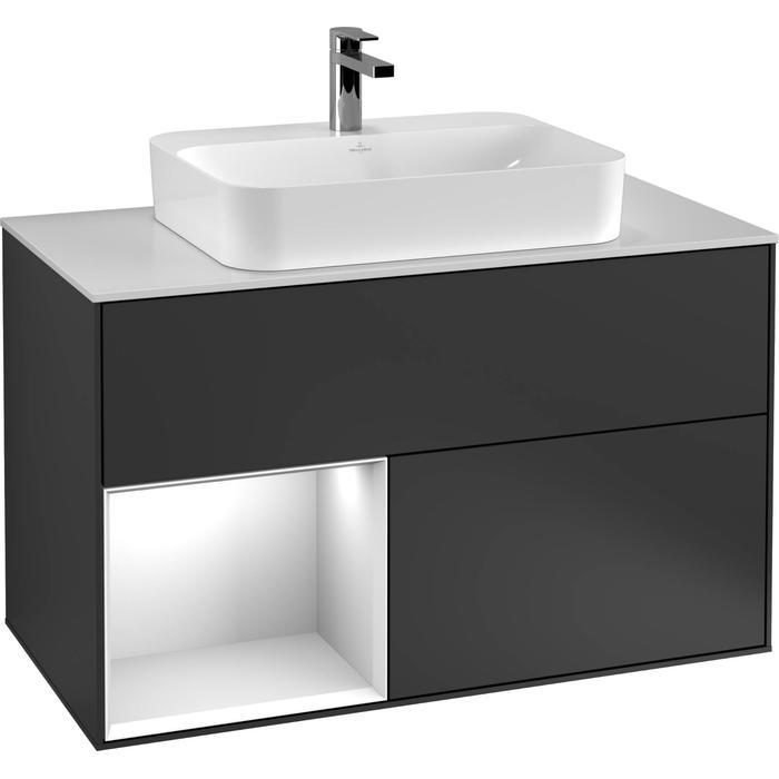 Villeroy & Boch Finion Wastafelonderkast 100x50,1x60,3 cm Glossy White Lacquer