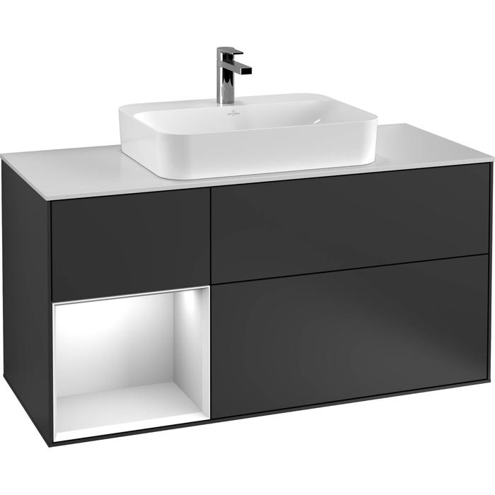 Villeroy & Boch Finion Wastafelonderkast 120x50,1x60,3 cm Black Matt Lacquer