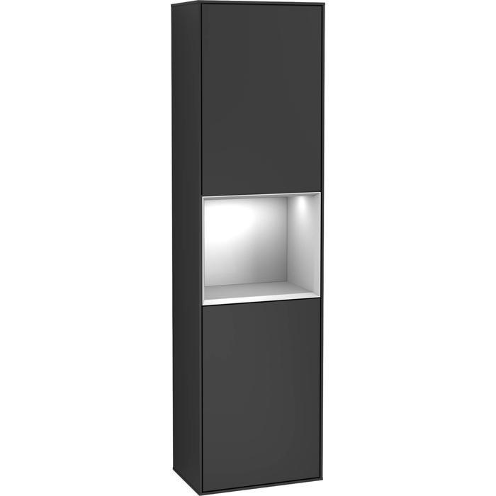 Villeroy & Boch Finion Hoge Kast 41,8x27x151,6 cm Black Matt Lacquer