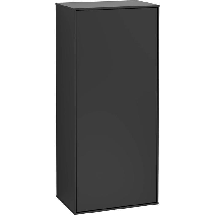 Villeroy & Boch Finion Zijkast Halfhoog 41,8x27x93,6 cm Black Matt Lacquer