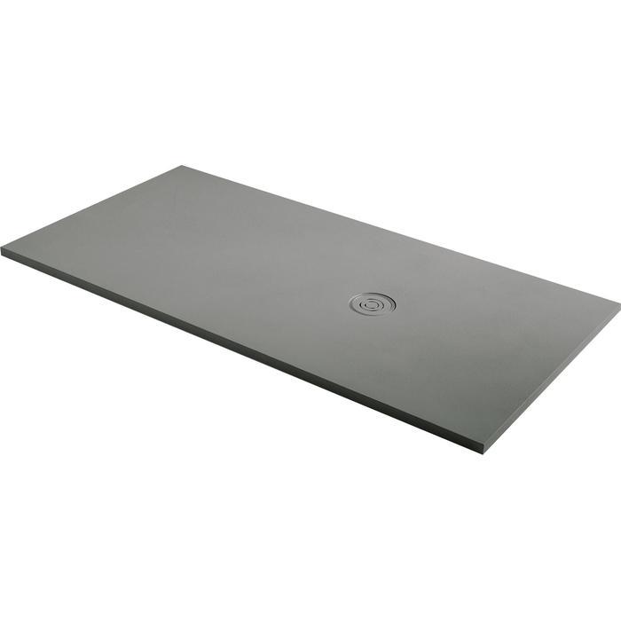 Acquabella Focus Douchevloer Beton 90x90x3 cm Cemento