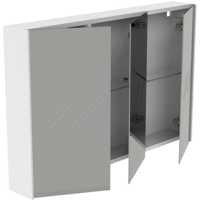 Thebalux Frozen Spiegelkast 65x100x13,5 cm Antraciet Mat lak