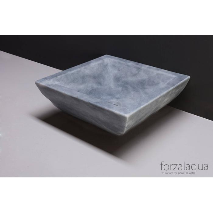 Forzalaqua Siracusa opzetkom 40x40x15 cm Cloudy marmer gezoet