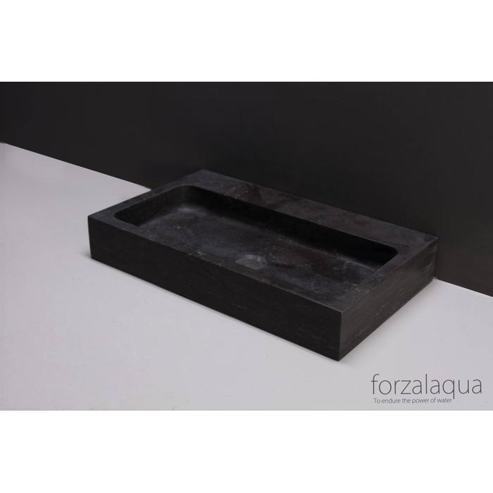 Forzalaqua Taranto wastafel 50x30x8 cm Hardsteen gezoet