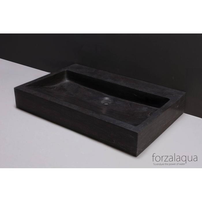 Forzalaqua Palermo wastafel 80,5x51,5x9 cm hardsteen gezoet