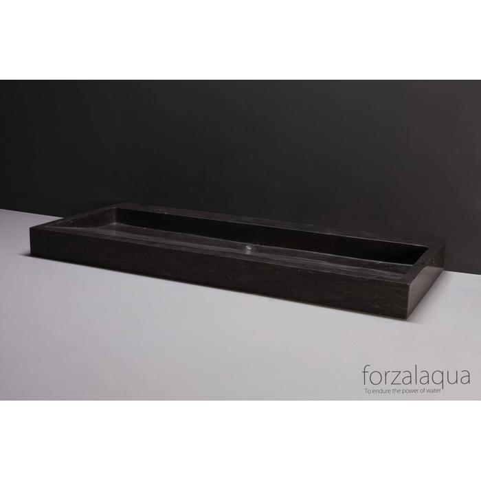 Forzalaqua Palermo wastafel 120,5x51,5x9 cm Hardsteen gezoet