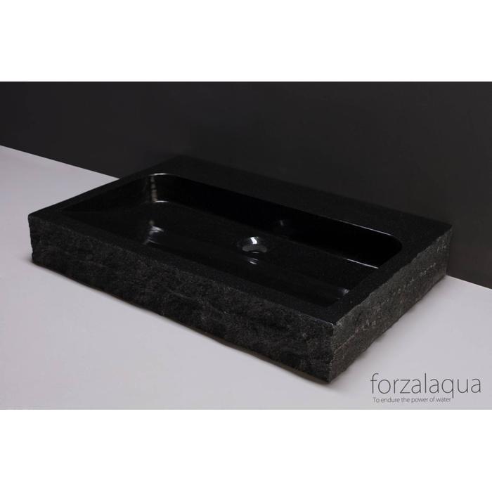 Forzalaqua Palermo wastafel 80,5x51,5x9cm Graniet gekapt