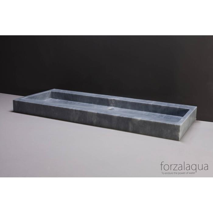 Forzalaqua Palermo wastafel 100,5x51,5x9cm Cloudy marmer gezoet