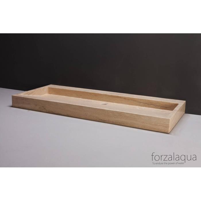 Forzalaqua Palermo wastafel 100,5x51,5x9cm Travertin gezoet