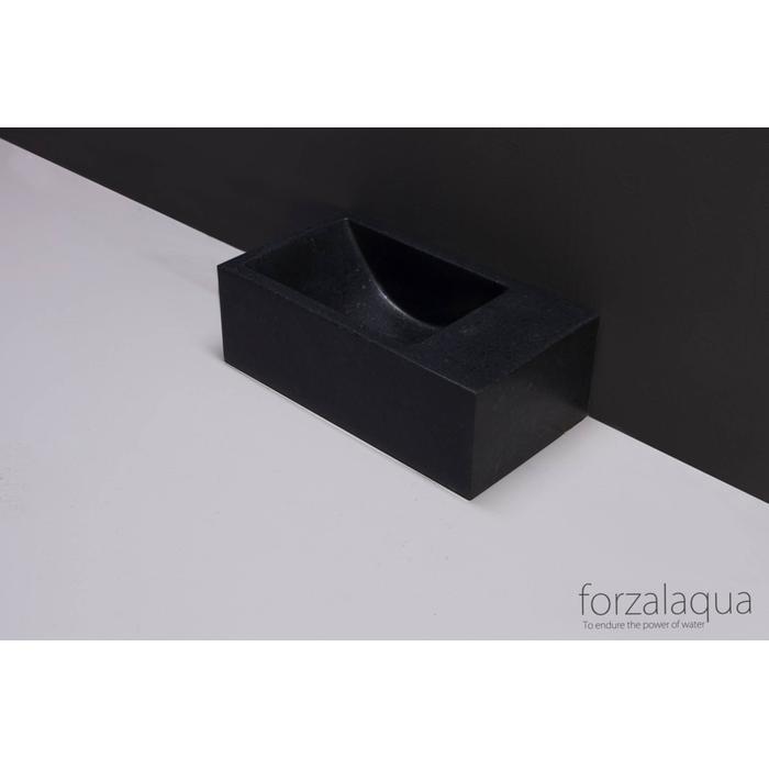 Forzalaqua Venetia XS fontein basalt gezoet
