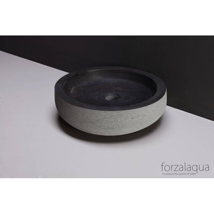 Forzalaqua Verona Opzetkom Ø40x12 cm Hardsteen geciseleerd