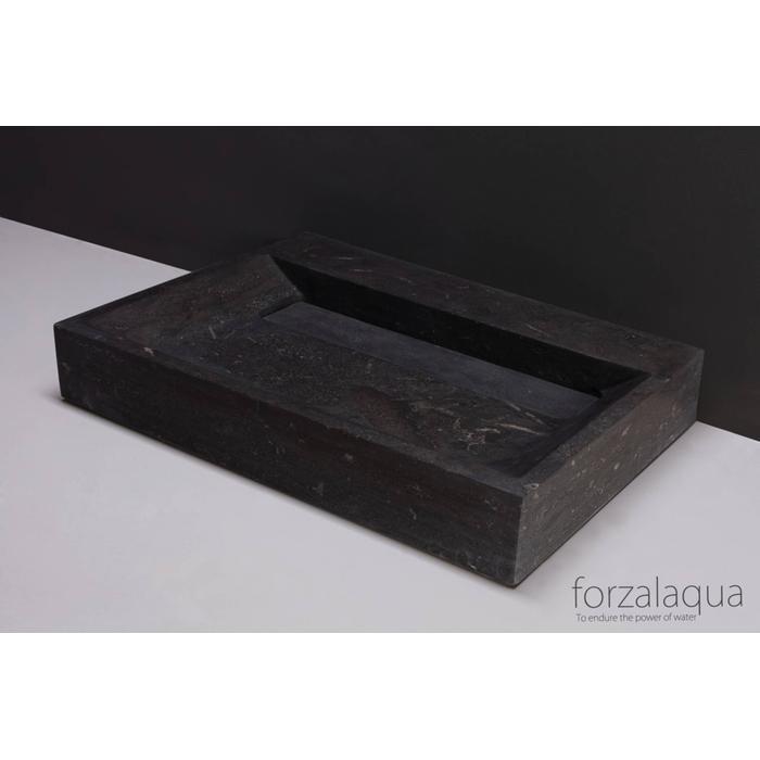 Forzalaqua Bellezza wastafel 60x40x9 cm hardsteen gezoet