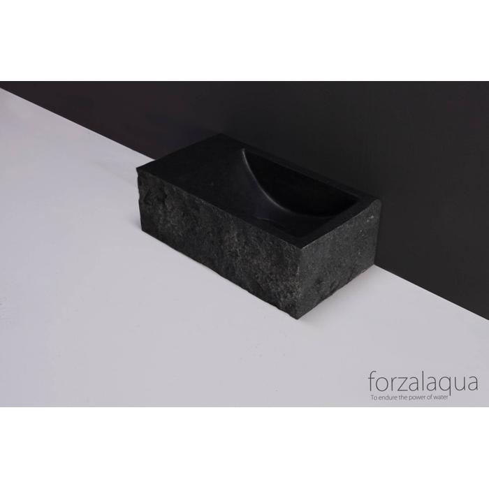 Forzalaqua Venetia XS fontein basalt gekapt