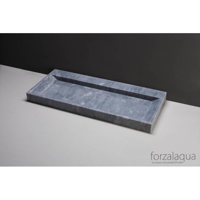Forzalaqua Bellezza wastafel 120,5x51,5x9cm Cloudy marmer gezoet
