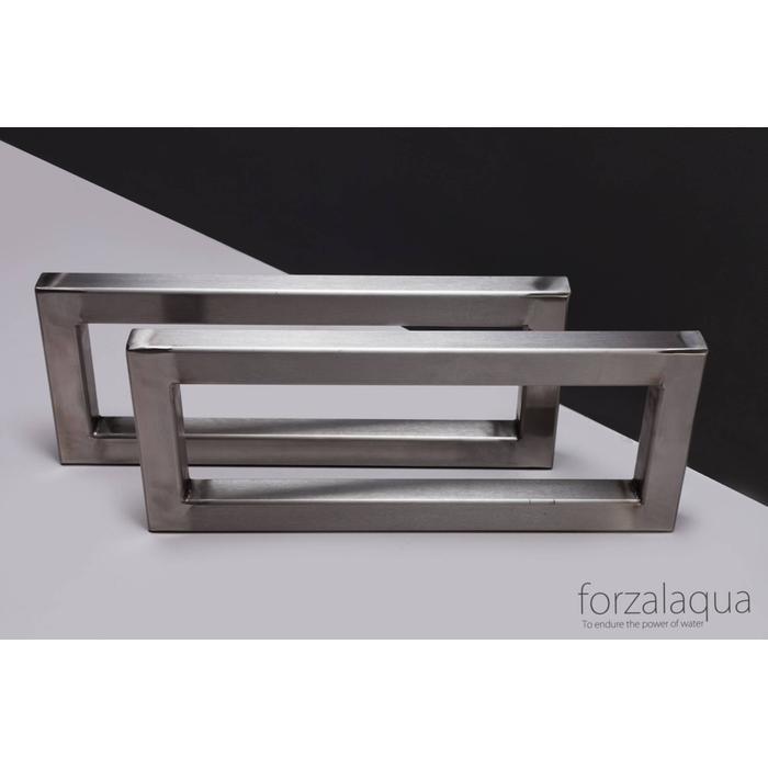 Forzalaqua Beugelset Rvs Geborsteld 39,5x16x3cm Incl. Bev. Mat.