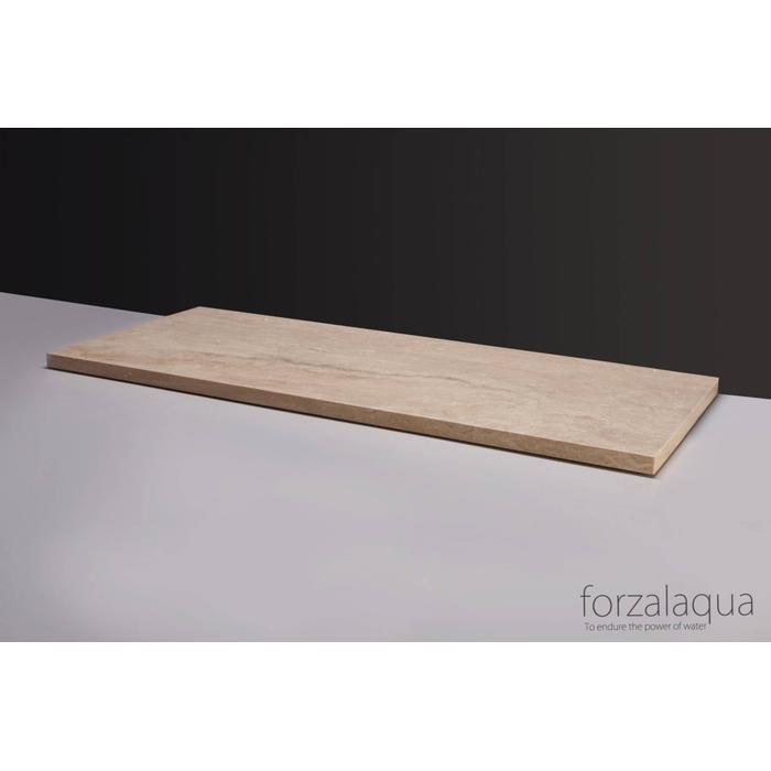 Forzalaqua Plateau 120,5x51,5x3 cm Travertin gezoet