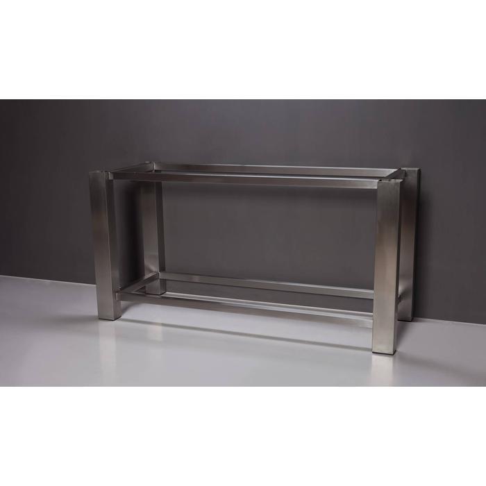 Forzalaqua Onderstel RVS 160x51x80 cm Geborsteld Zilver