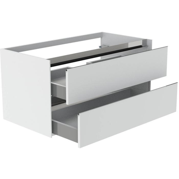 Thebalux Frozen Wastafelonderkast 100x51x50 cm Antraciet mat lak