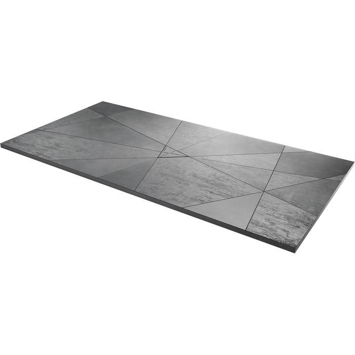 Acquabella Smart Fusion Douchevloer 90x100x3 cm Cemento