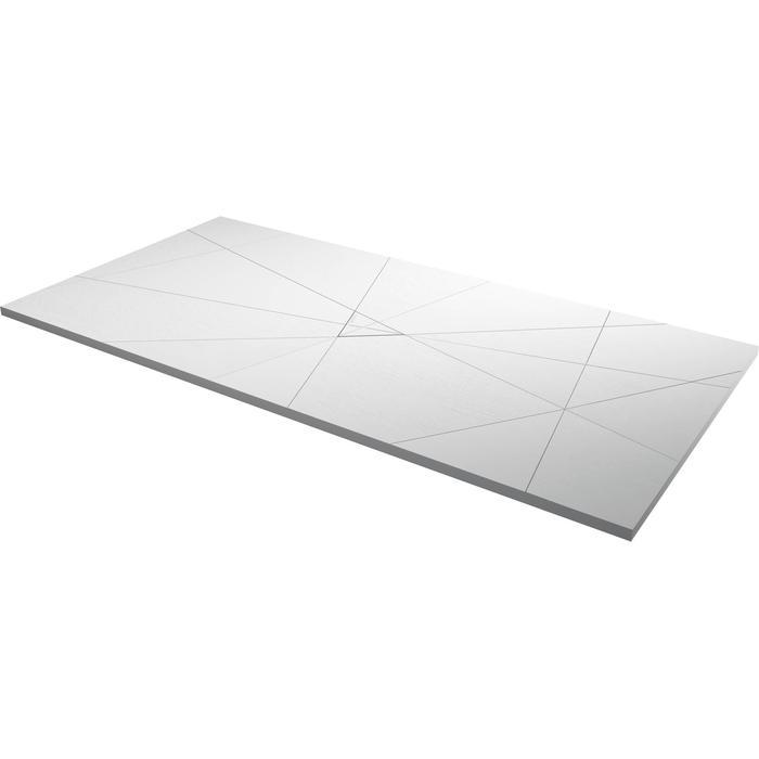 Acquabella Smart Fusion Douchevloer 90x140x3 cm Blanco