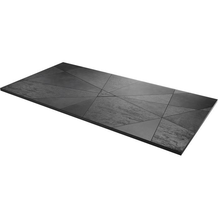 Acquabella Smart Fusion Douchevloer 90x120x3 cm Lava