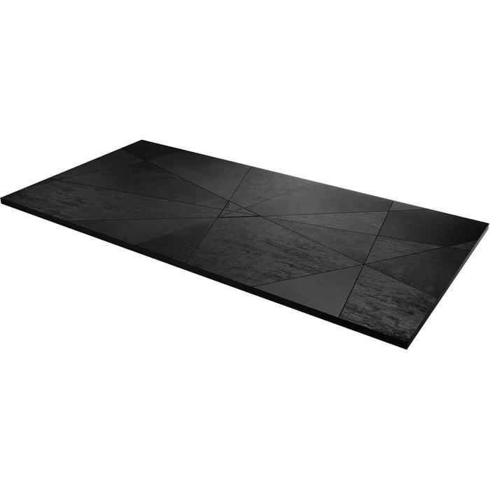 Acquabella Smart Fusion Douchevloer 90x100x3 cm Negro