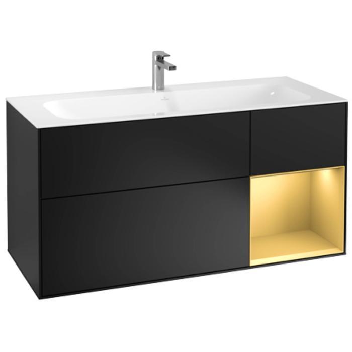 Villeroy & Boch Finion Wastafelonderkast 119,6x49,8x59,1 cm Black Matta Laqeur
