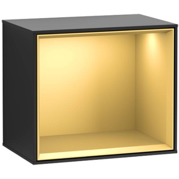 Villeroy & Boch Finion Badmeubelkast 41,8x27x35,6 cm Black Matt Lacquer