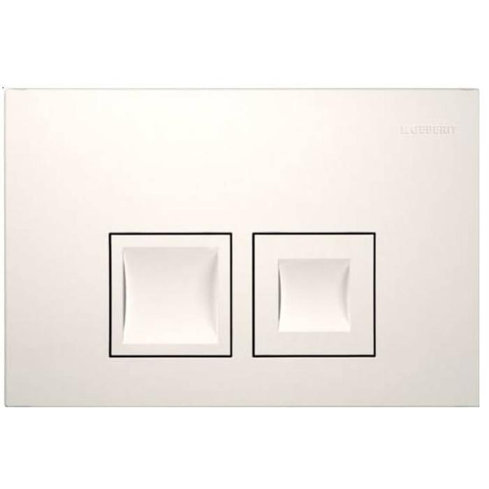 Tweedekans Geberit Delta 50 bedieningsplaat dual flush 24,6x2,5x16 cm Wit 00351