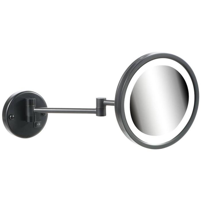 Geesa Cosmetic Collection Scheer- en Cosmeticaspiegel Ø 21,5 cm LED 2-arm Zwart