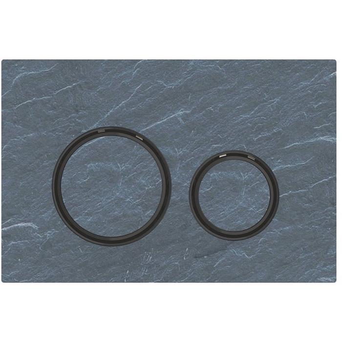 Geberit Sigma 21 drukplaat zwart chroom/mustang leisteen tbv UP720, UP320 en UP300