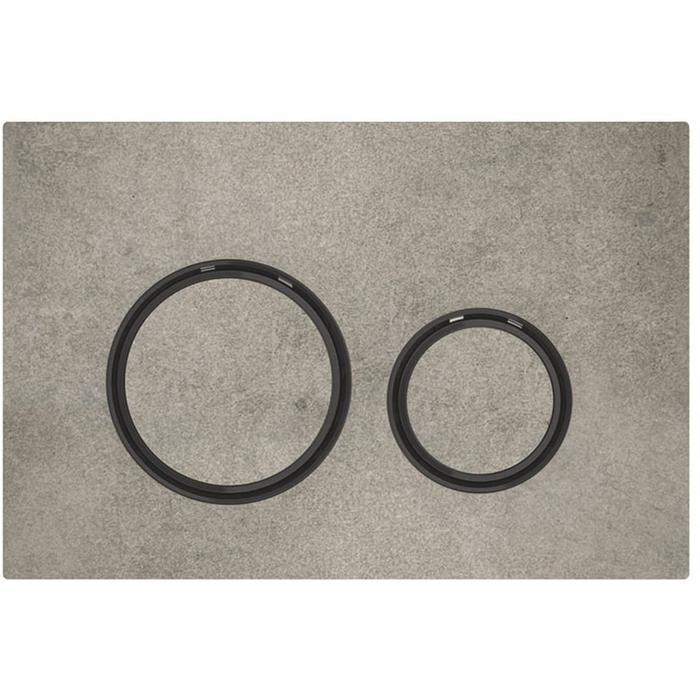 Geberit Sigma 21 drukplaat zwart chroom/betonlook tbv UP720, UP320 en UP300