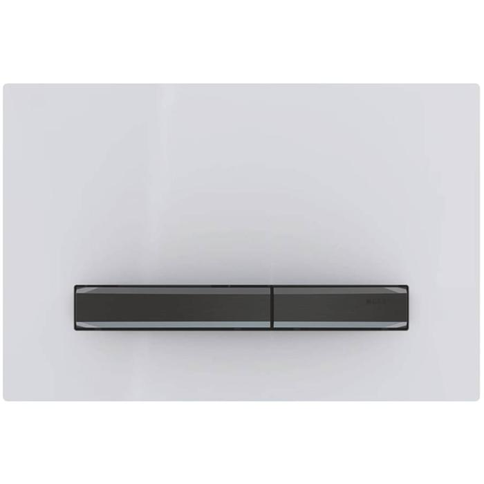Geberit Sigma 50 drukplaat zwart chroom/wit tbv UP720, UP320 en UP300