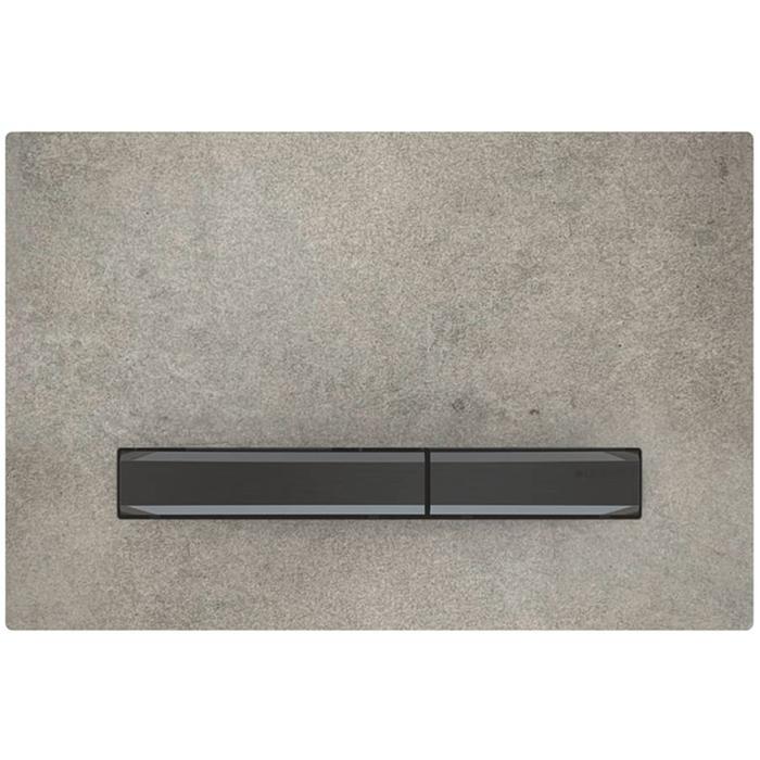 Geberit Sigma 50 drukplaat zwart chroom/betonlook tbv UP720, UP320 en UP300