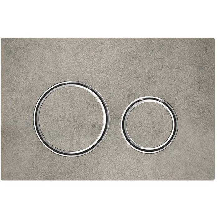 Geberit Sigma 21 drukplaat chroom-betonlook tbv UP720, UP320 en UP300