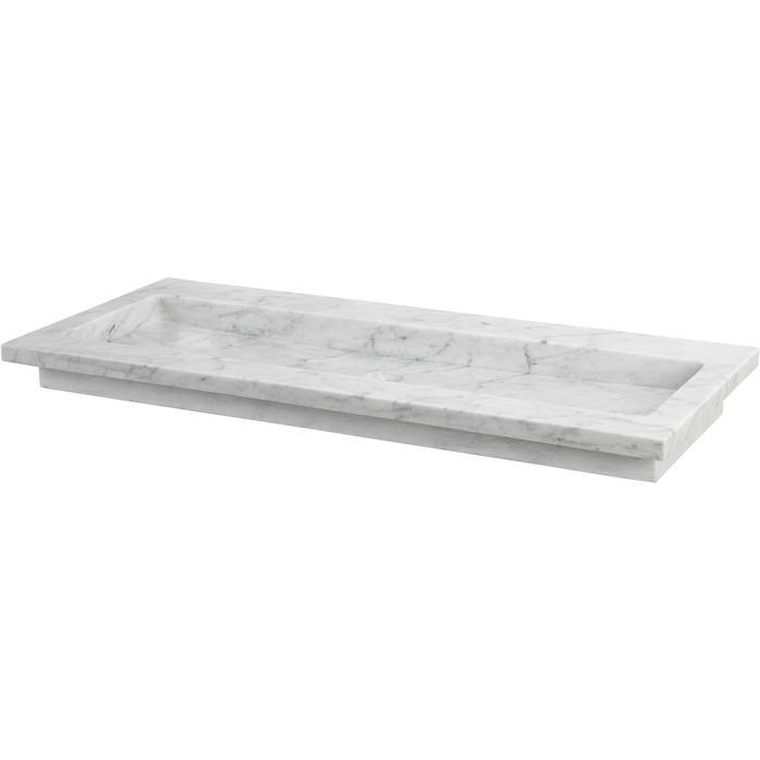 Ben Naturno wastafel Carrara 120,5x51,5x3cm 1 kraangat