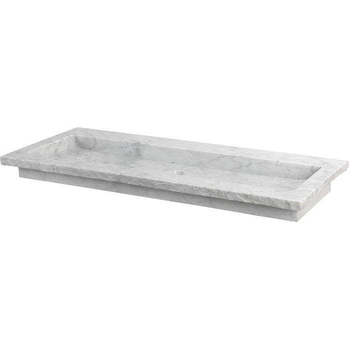 Ben Naturno wastafel Carrara 120,5x51,5x3cm 2 kraangaten