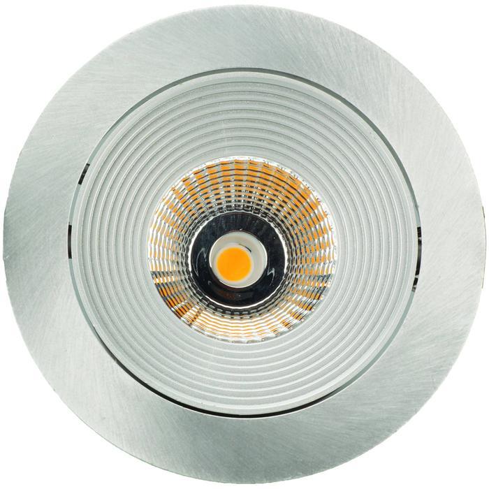 Spot rond alu mat LED