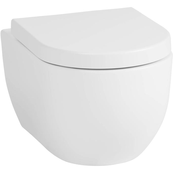Saqu Home complete toiletset met zitting Rimless Mat Wit