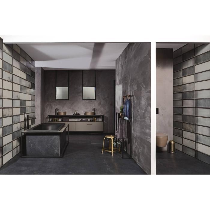 Vloertegel Iris Solid Concrete 60x120x- cm Black 1,44M2