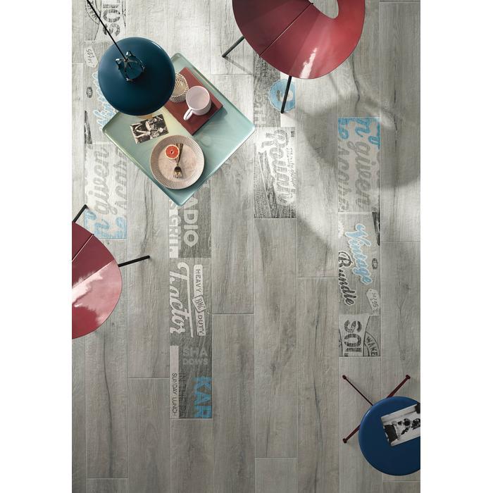 Vloertegel Imola Kuni 20x120x1,05 cm Grijs 1,44M2