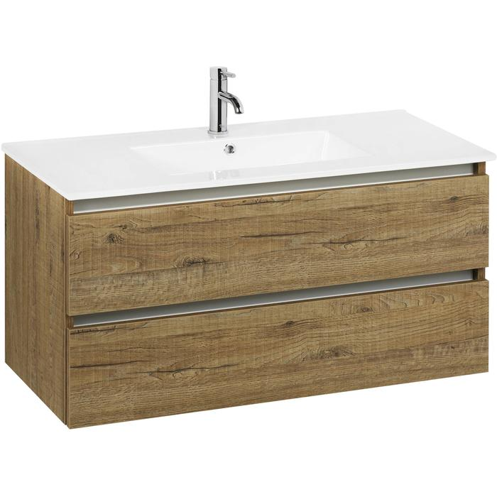 Ben Limara wastafelmeubelset 100cm wastafel keramiek sherwood/aluminium