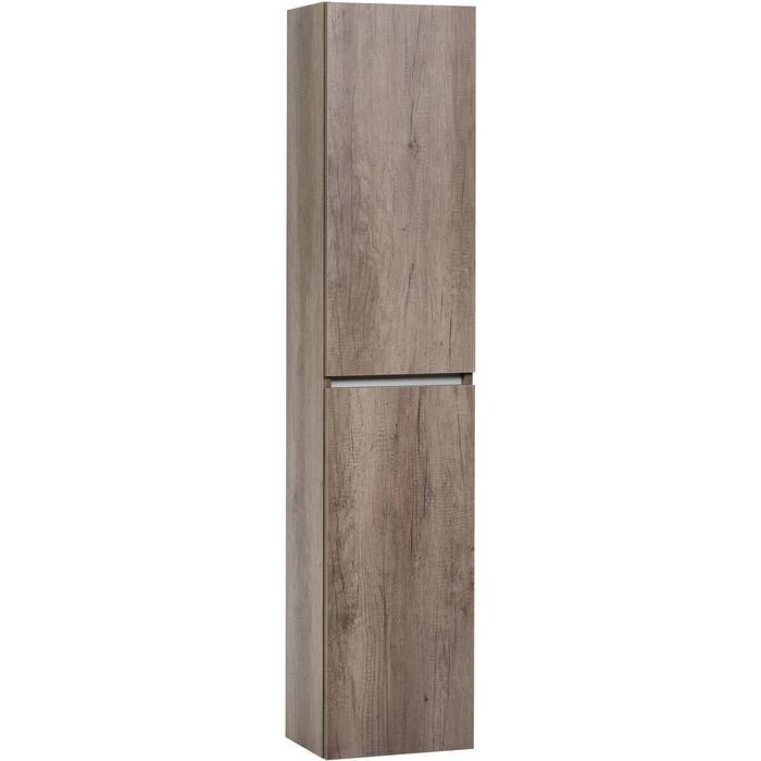 Ben Limara Hoge kast Rechts, 35x29x165 cm, Nebraska Eiken/Aluminium
