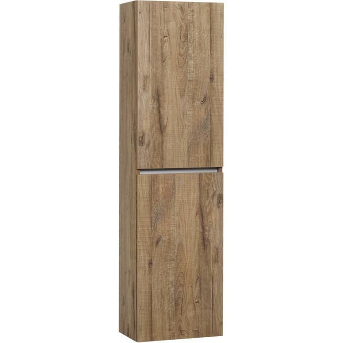 Ben Limara Hoge kast Rechts, 45x29x165 cm, Sherwood/Aluminium